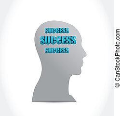 thinking in success illustration design