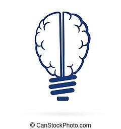thinking lightbulb web icon