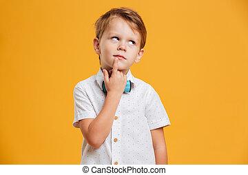 Thinking little boy child