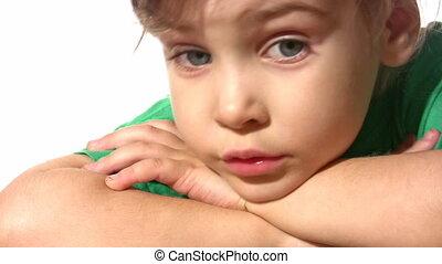thinking little girl - Thinking little girl