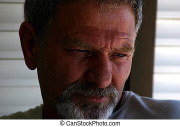 Thinking Man Portrait