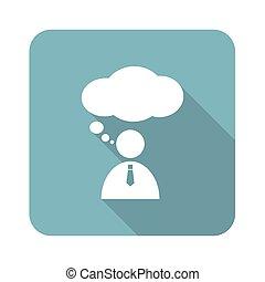 Thinking person icon