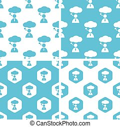 Thinking person patterns set