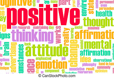 Thinking Positive as an Attitude Abstract Concept