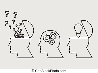 thinking process clip art and stock illustrations 7 983 thinking