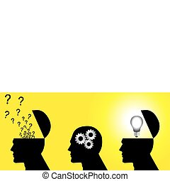 Thinking Process - Stock vector which symbolize of thinking ...