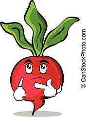 Thinking radish character cartoon collection