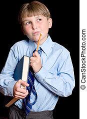 Thinking School boy student