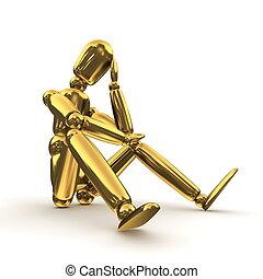 Thinking Shiny Gold