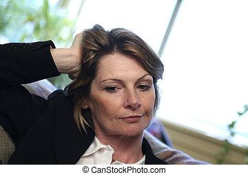 Thinking - woman thinking