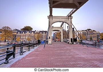 Thiny bridge Amsterdam Netherlands
