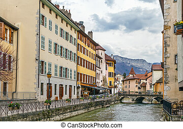 Thiou river in Annecy, France