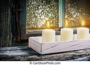 Third Advent, white candles