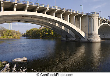 Third Avenue and Nicollet Island Bridges