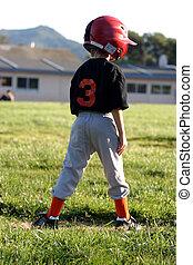 Third Base Player - Lillte league player waiting on third ...