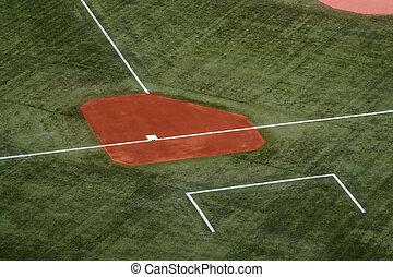 Third Base - Third base on a baseball field.