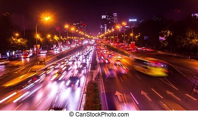 Third Ring Road traffic in Beijing