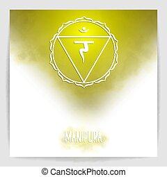 Third, solar plexus chakra - Manipura.
