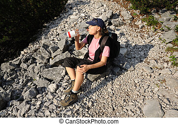 Thirsty hiker