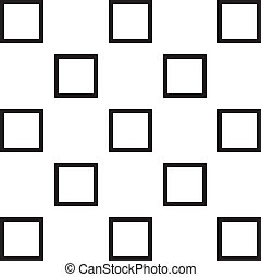 Thirteen squares on transparency background