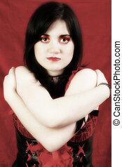 Thirteen Year Old Goth Teen