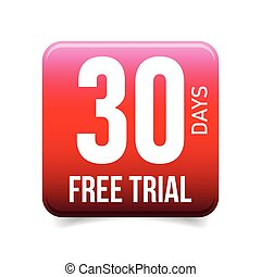 Thirty days free trial button red