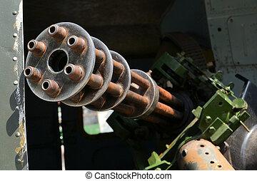 Thirty mm GAU Gatling-Gun Tankbuster - A Vietnam war era...