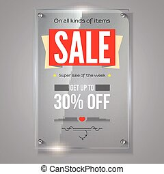 Thirty percent holiday discounts. Iformation on transparent...