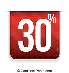 Thirty percent off ribbon red
