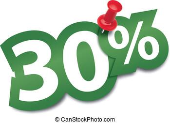 Thirty percent sticker