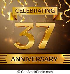 Thirty seven Years Anniversary Celebration Design.