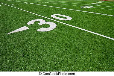 thirty yard line - football