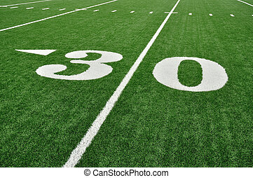 Thirty Yard Line on American Football Field