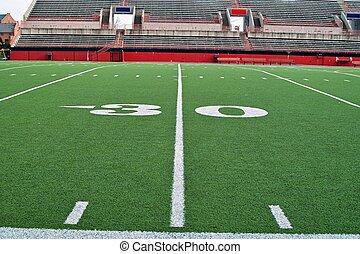 Thirty Yardline - A sideline view of the thirty yardline on...