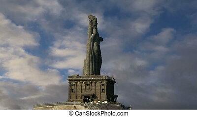 Thiruvalluvar statue, India - Thiruvalluvar statue,...