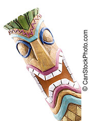 Angry Tiki God - This Angry Tiki God is NOT HAPPY! Isolated...