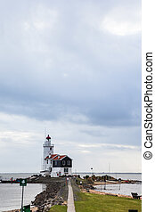 lighthouse on a cloudy day