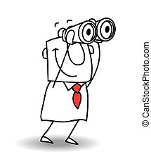 binoculars - This businessman have a good view with ...