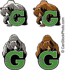 This Grizzly Bear design would be great for any High School or College sports team mascot.