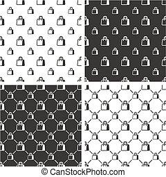 Shopping Bag or Paper Bag Big & Small Seamless Pattern Set