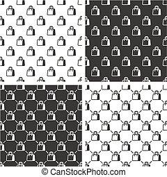 Shopping Bag or Paper Bag Seamless Pattern Set