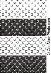 Tooth Seamless Pattern Set