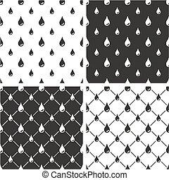 Water Drops Big & Small Seamless Pattern Set