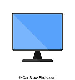 This image is a vector file representing a computer monitor display isolated.