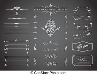 Vintage Decorative Ornament Borders
