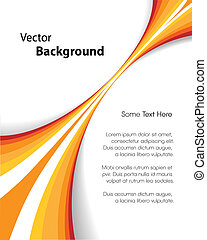 This image represents an abstract brochure background or cover./Orange Brochure Background