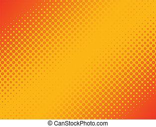 Halftone Background - This image represents an abstract...