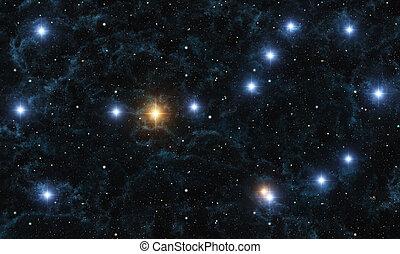 Scorpio - This image shows Scorpio with galactic nebula and...