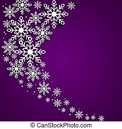 This is a christmas background with snowflakes