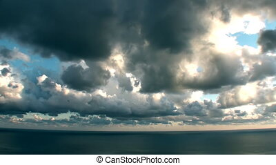 Epic Timelapse Stormy Sea Clouds